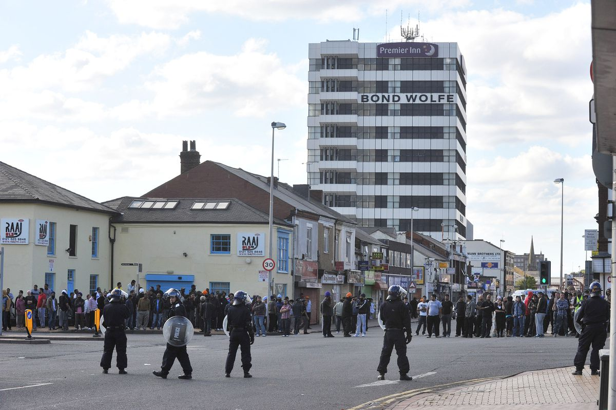 Scenes from the riots in West Bromwich