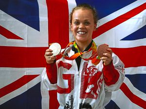 Great Britain's Ellie Simmonds arrives back at Heathrow Airport, London. PRESS ASSOCIATION Photo. Picture date: Tuesday September 20, 2016. The Paralympics GB squad arrive back in the UK after collecting 147 medals to finish second in the 2016 Rio Paralympic medal table, surpassing their total of 120 from London 2012. PRESS ASSOCIATION Photo. Photo credit should read: Steve Parsons/PA Wire.