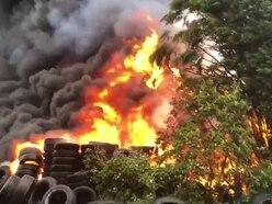 Black smoke pours from Great Wyrley tyre blaze