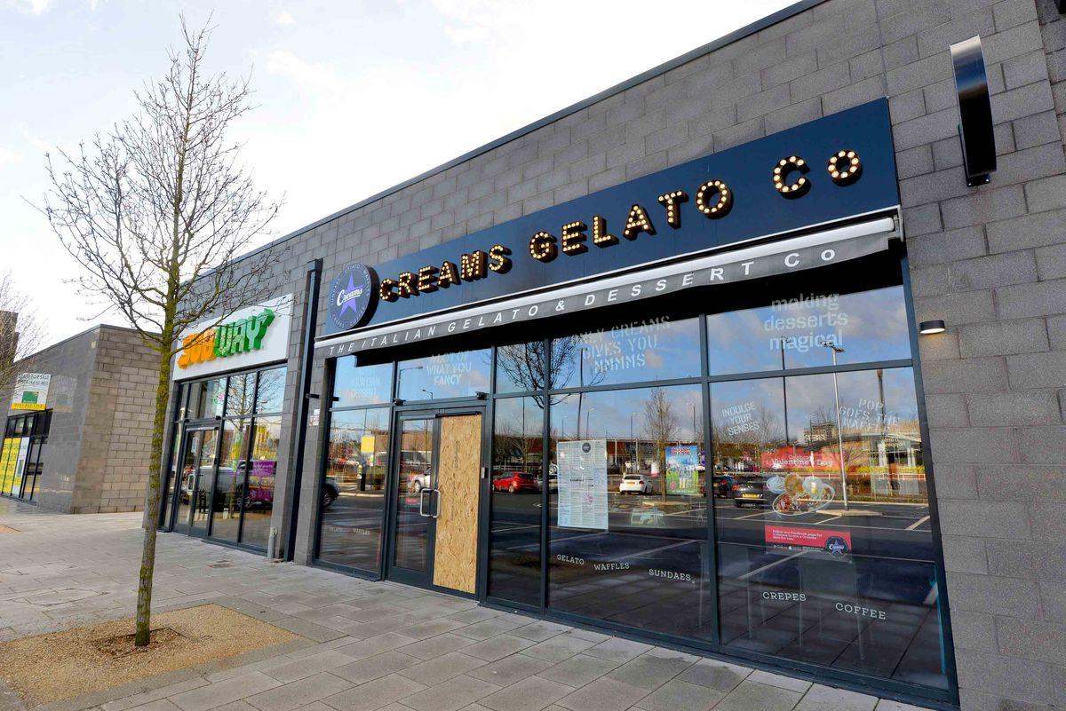 Creams Gelato Co, next to the new cinema