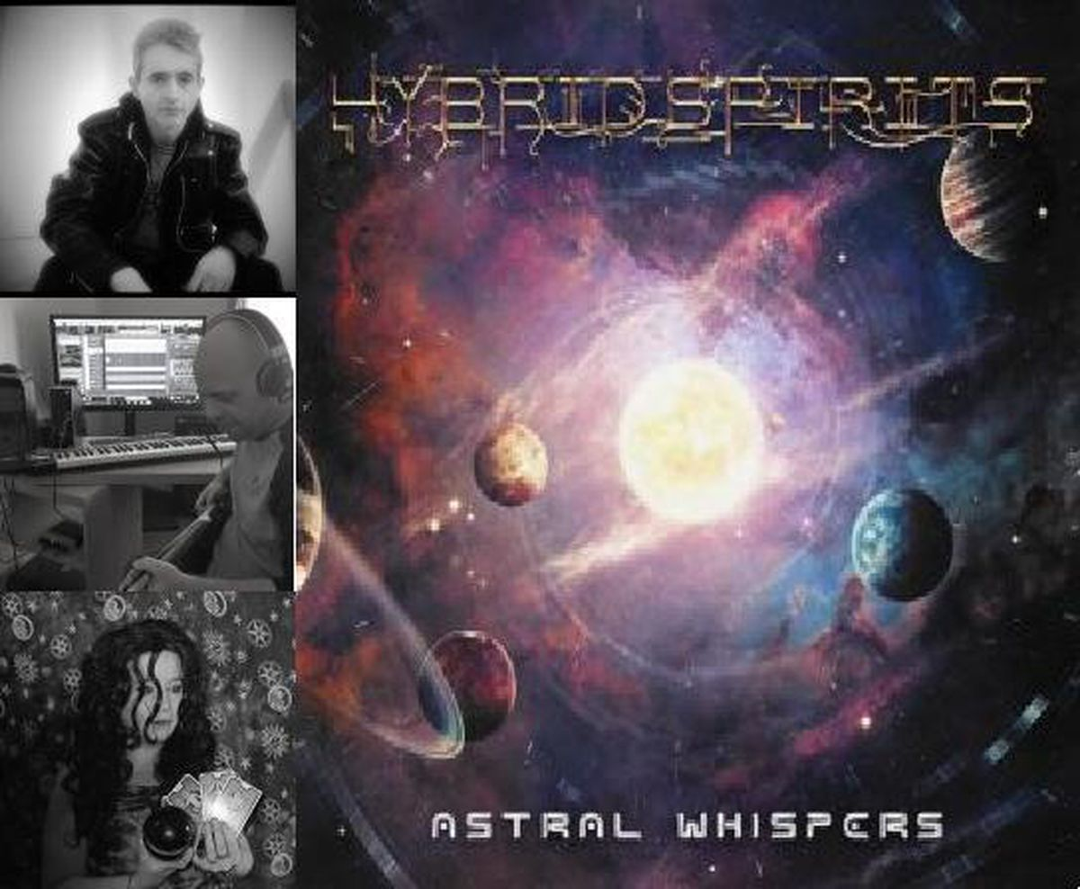 Hybrid Spirits are, from top, Nigel Rooke, Paul Kirk and Voodoo Jade, with the album cover, right