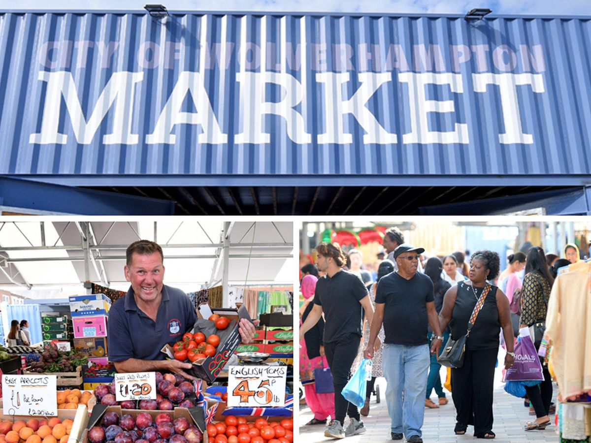 Wolverhampton's new market opened for business on Tuesday