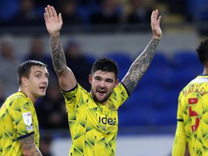 CARDIFF, WALES - SEPTEMBER 28: .Alex Mowatt of West Bromwich Albion celebrates after scoring a goal to make it 0-3 during the Sky Bet Championship match between Cardiff City and West Bromwich Albion at Cardiff City Stadium on September 28, 2021 in Cardiff, Wales. (Photo by Adam Fradgley - West Bromwich Albion FC via Getty Images).