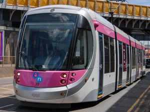 A man died after being hit by a Midland Metro tram