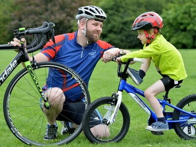Father-of-two takes on 150 mile charity bike ride in memory of his late grandfather