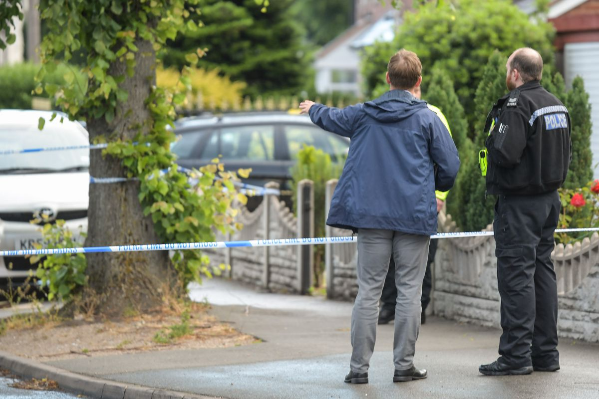 Police officers at the scene in Oldbury. Photo: SnapperSK