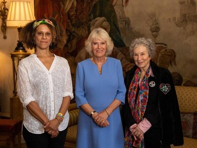 'Very funny' Duchess of Cornwall meets Booker Prize winners
