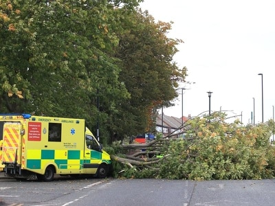 Two dead as Storm Ali brings gusts of more than 100mph