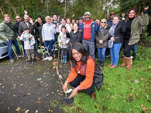 MP Eleanor Smith joined dozens of residents and councillors to litter pick an area of tree-covered land in Wolverhampton which has been earmarked for a travellers site