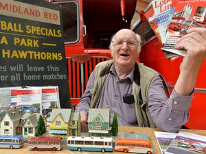 WALSALL  COPYRIGHT TIM STURGESS EXPRESS AND STAR...... 15/06/2021   Aldridge transport museum  were donated more items  than usual during lockdown which now need to be sorted out. Pictured is museum secretary Alan Bishop with just a few of the varied donations given to the museum..