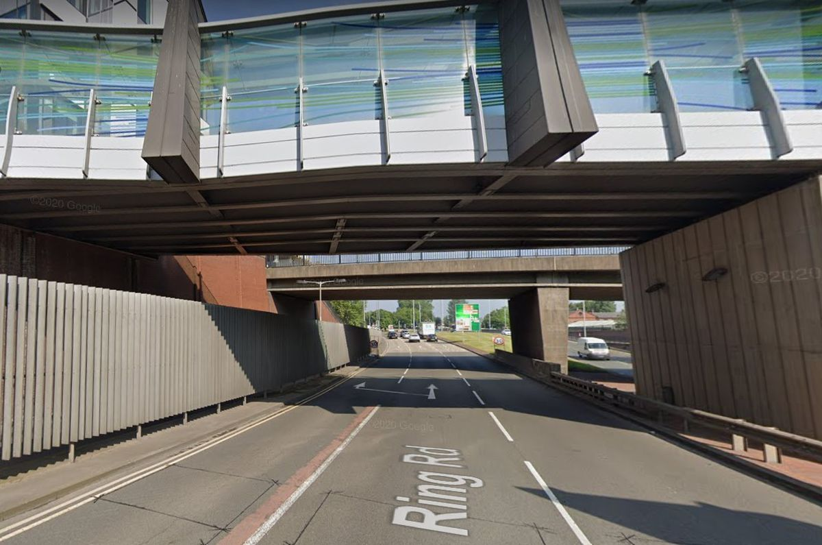The man was found on the section of the Wolverhampton Ring Road underneath the Victoria Street bridge. Photo: Google.