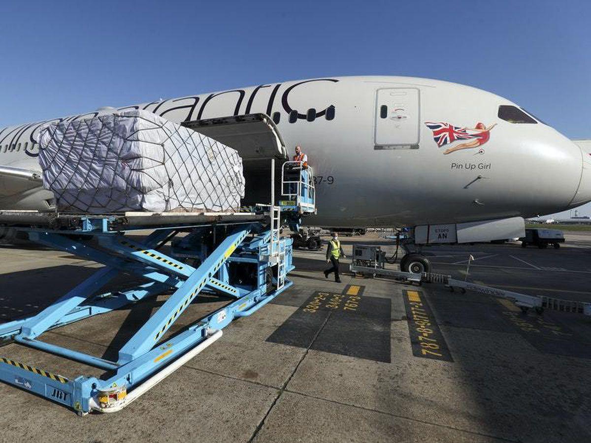 A Virgin Atlantic charter flight lands at Heathrow