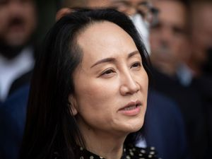 Meng Wanzhou, chief financial officer of Huawei, reads a statement
