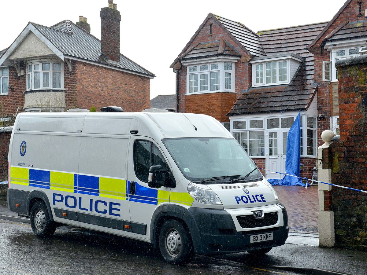 The family home cordoned off in Rookery Lane, Penn, after Sarbjit Kaur was found dead
