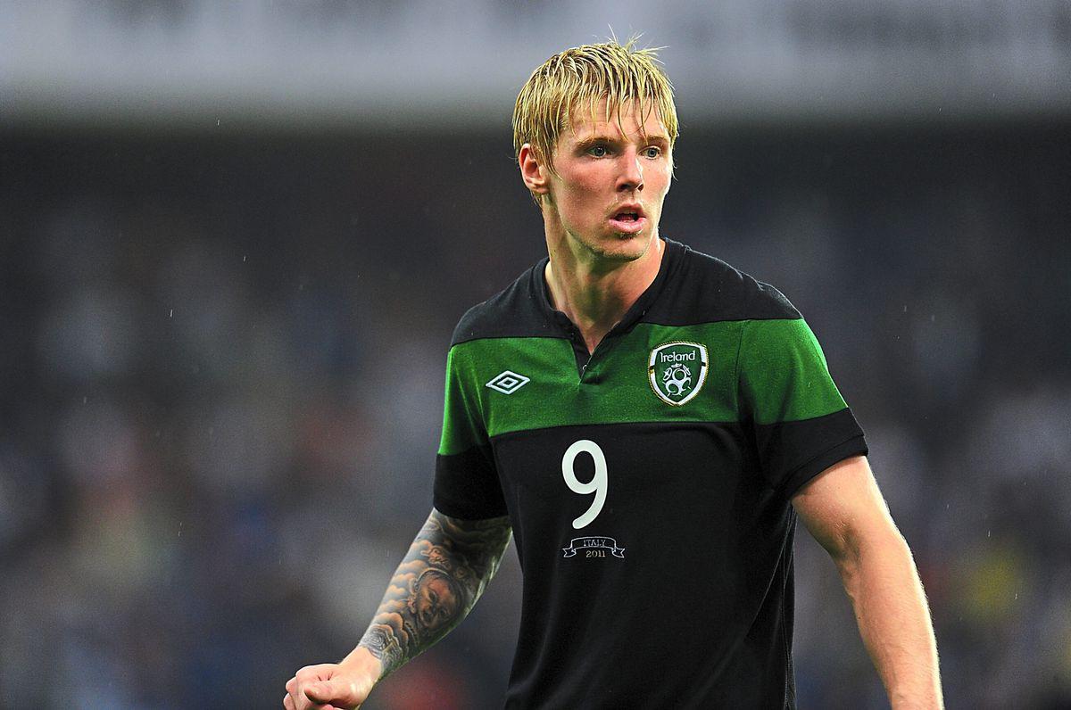 Andy Keogh wtth Republic of Ireland