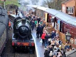 Meet the volunteers who keep The Severn Valley Christmas train chugging through the winter