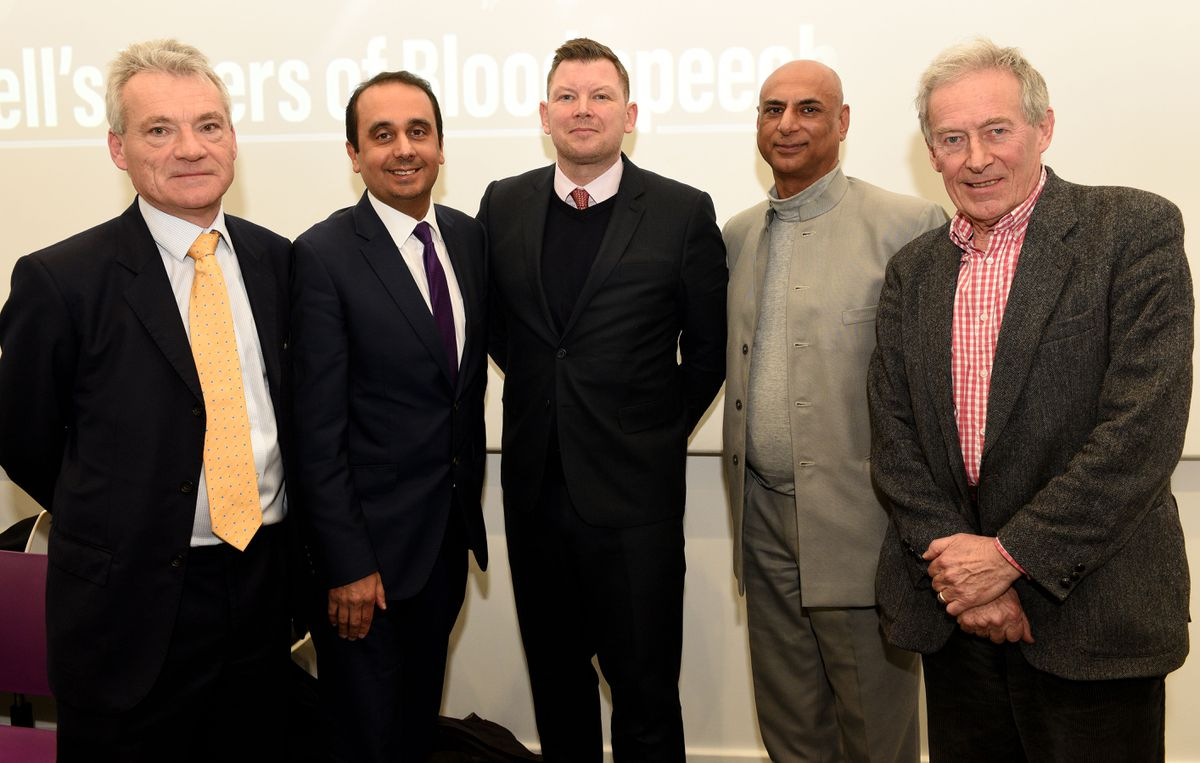 Left to right: Nigel Hastilow, Paul Uppal, Keith Harrison, Milkinder Jaspal and Nick Jones
