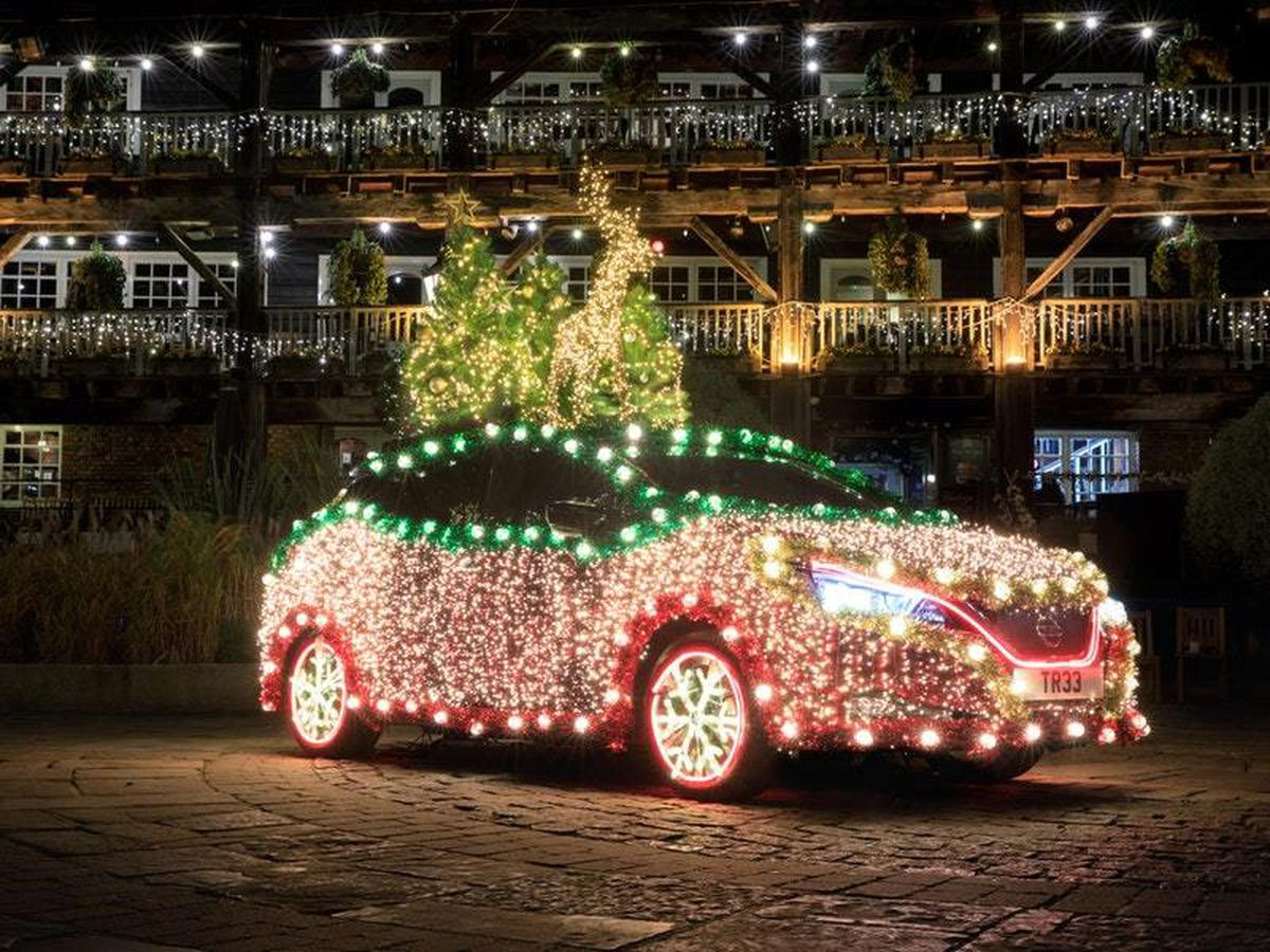 The car's lights are powered entirely by its regenerative braking