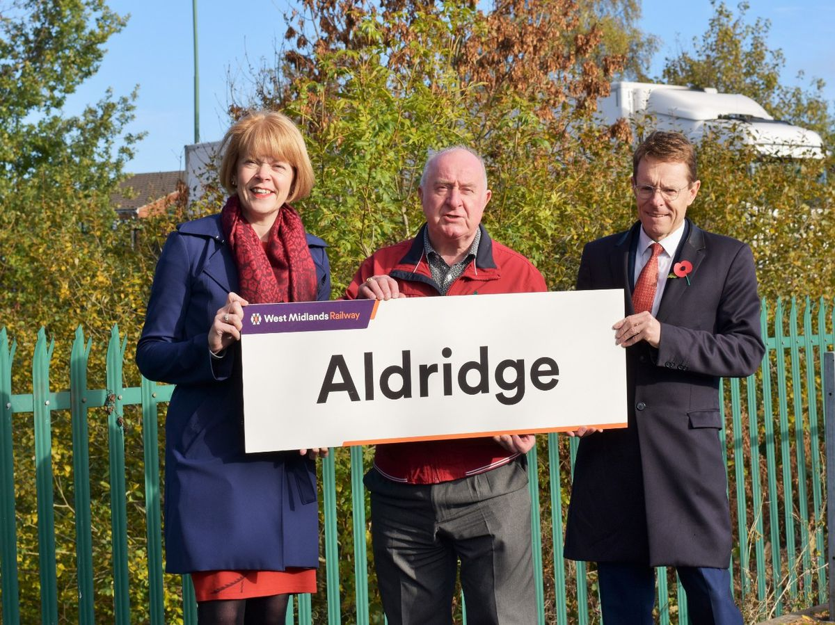 Wendy Morton MP, Councillor Mike Bird and Mayor Andy Street
