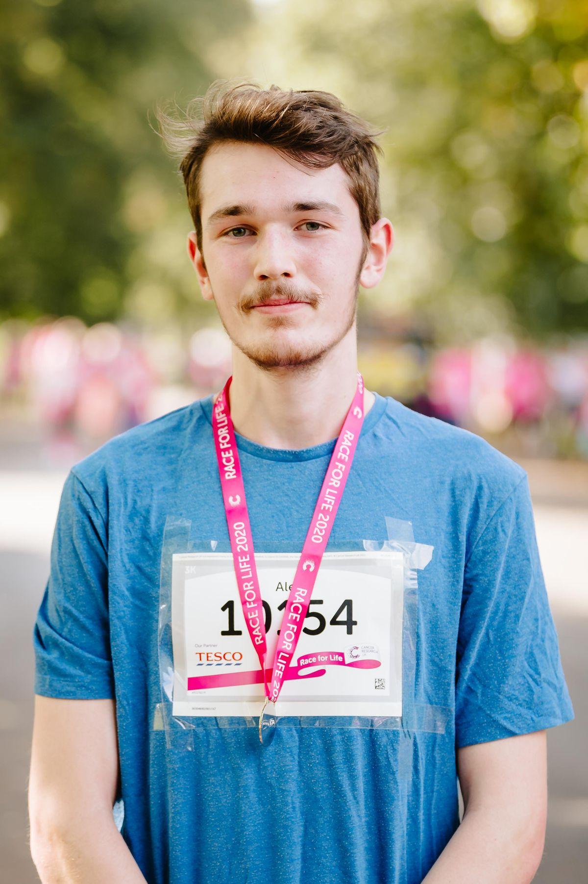 Alex Fletcher from Halesowen came first in the 3k run