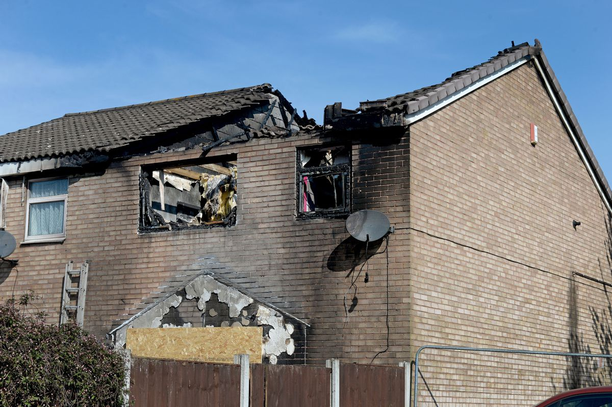 The roof was blown off in the explosion. Photo: Tim Thursfield