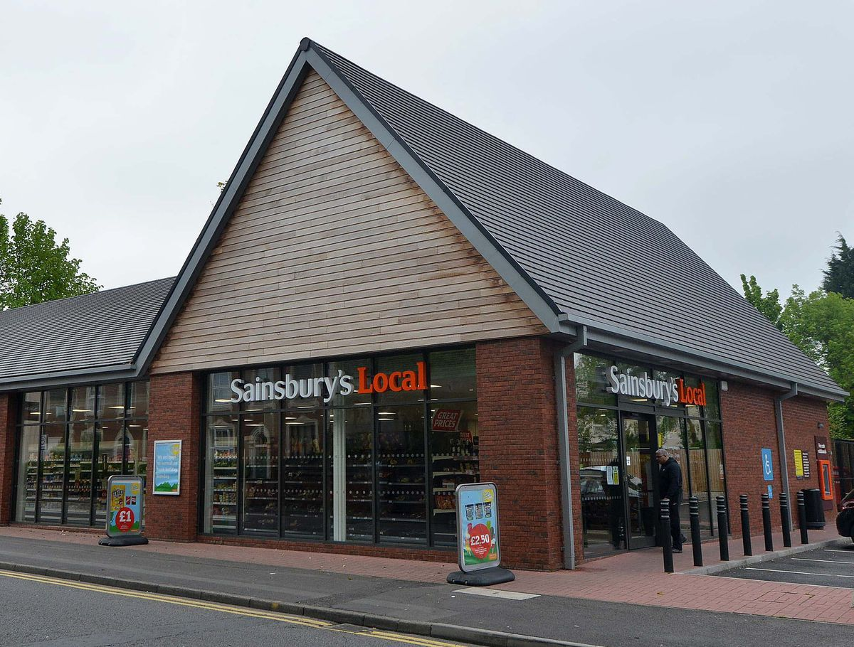 The Sainsbury's Local in Compton Road where the incident happened