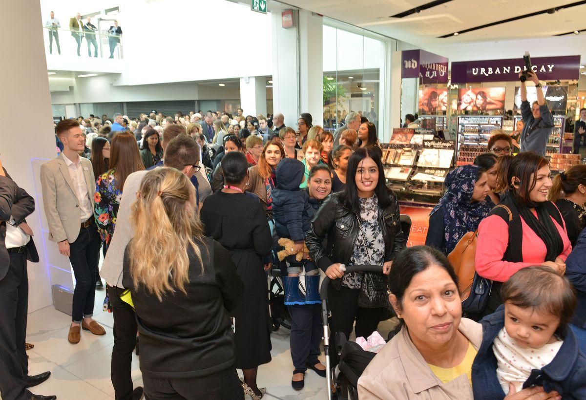 Shoppers enter the new Debenhams
