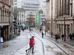 Cheapside in Nottingham ahead of the city moving into the Tier 3 alert level