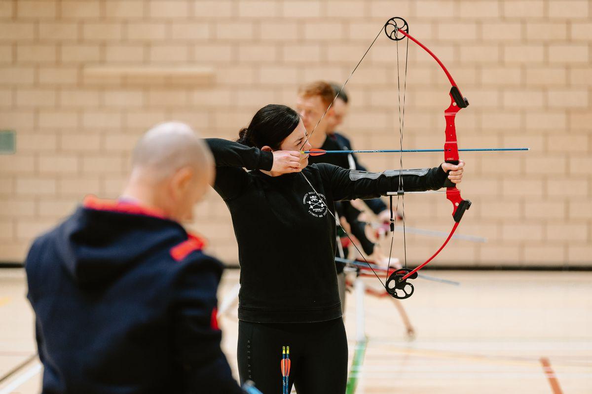 An archery class at the Battle Back Centre