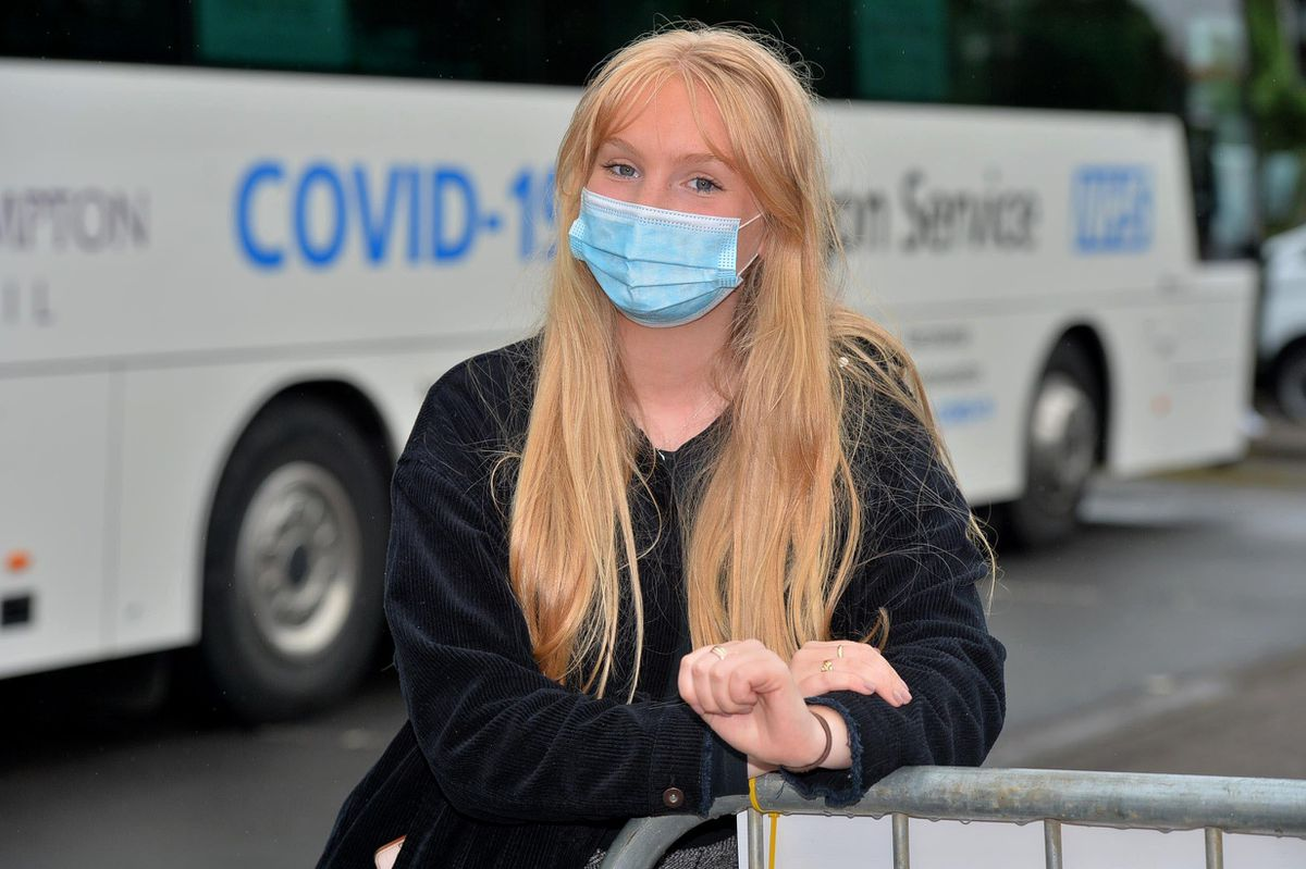 Aine Doherty was there to support her friend Maddie and said she thought the bus was a great idea