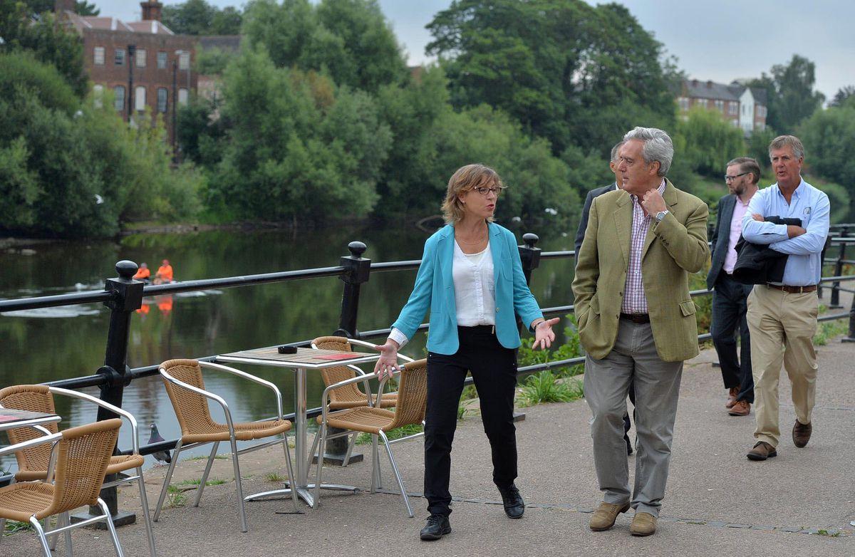 Mark Garnier and Rebecca Pow in Bewdley