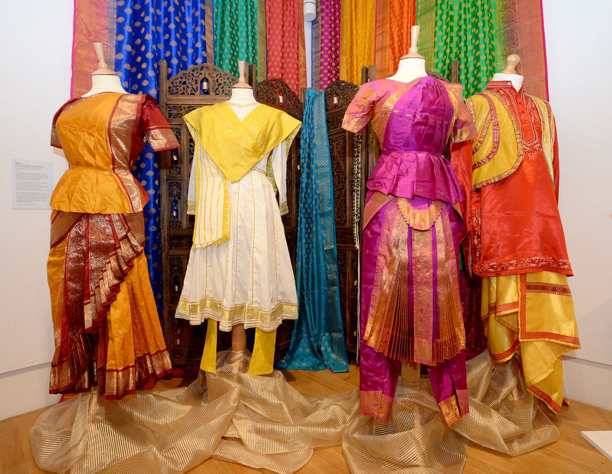 Some of the colourful outfits on display