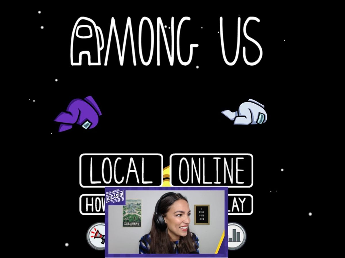 AOC joins Twitch to encourage voting by playing Among Us