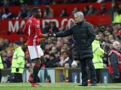 Mourinho and Pogba in tense-looking training exchange