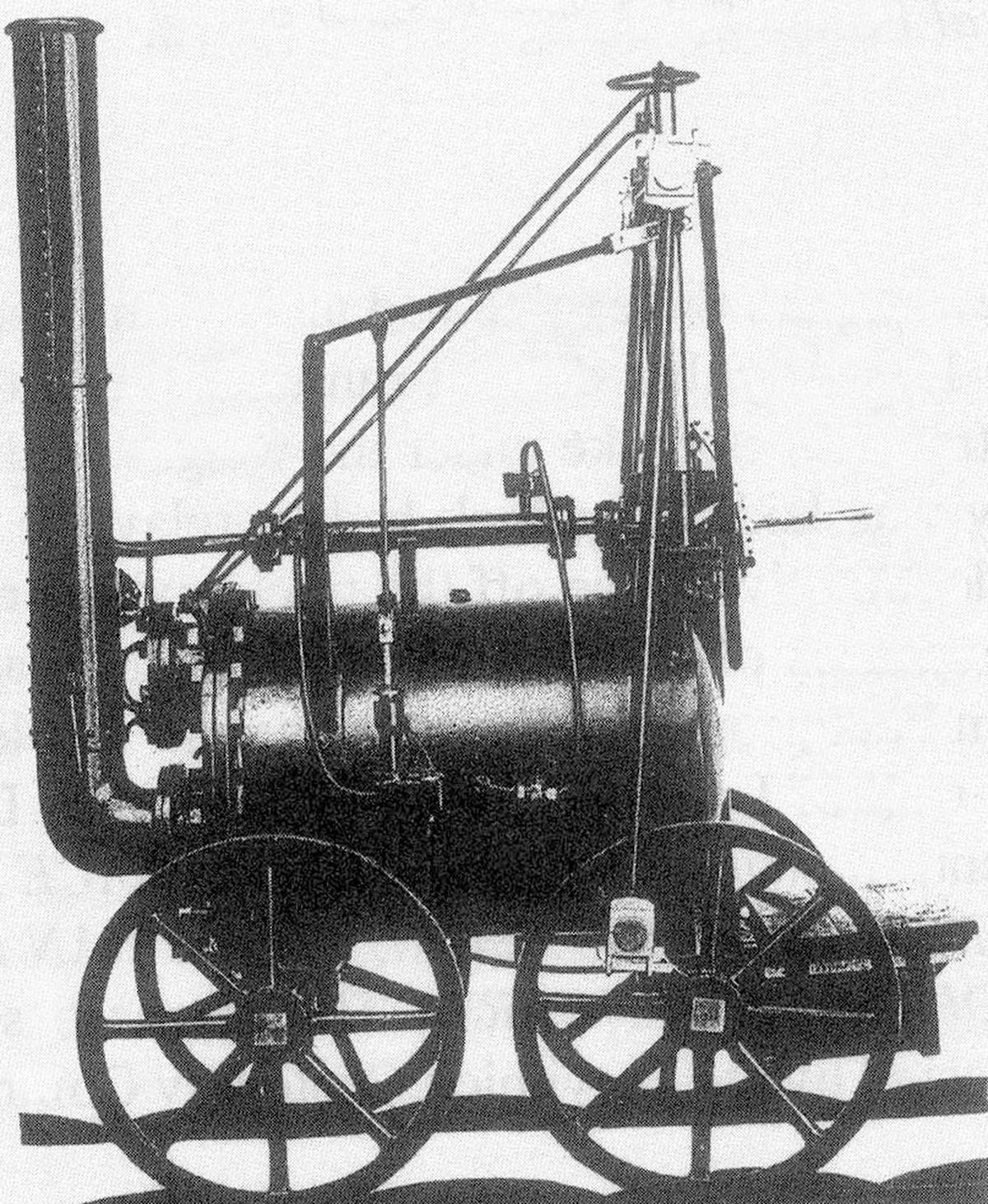 Catch Me Who Can, said to be the world's first passenger locomotive, built at Hazledine works, Bridgnorth, in 1808
