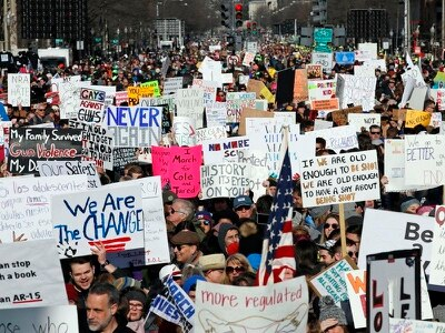 Thousands gather worldwide to march for gun control