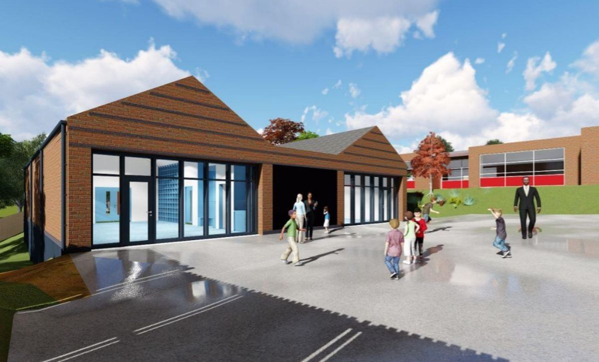 An artist impression of the proposed new early years building at St Bartholomew's CE Primary in Wolverhampton. Photo: Seymour Harris Architecture