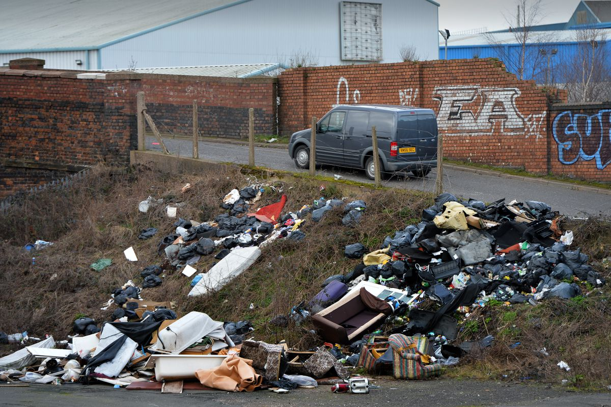 Fly-tipping off Kendrick road in Darlaston