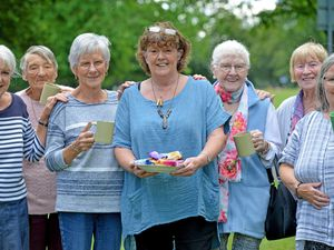 Sharon Pedley, centre, has set up the Connections Cafe at Pelsall Community Centre