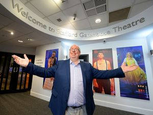 Actor Eric Potts in the new foyer area at Stafford Gatehouse Theatre