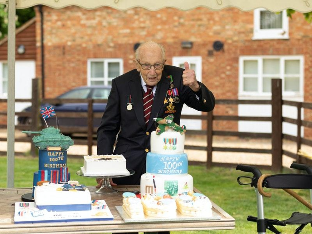 Soldiers in NI salute Captain Tom Moore on 100th birthday