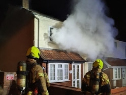 Fire crews tackle blaze at Dudley cannabis farm
