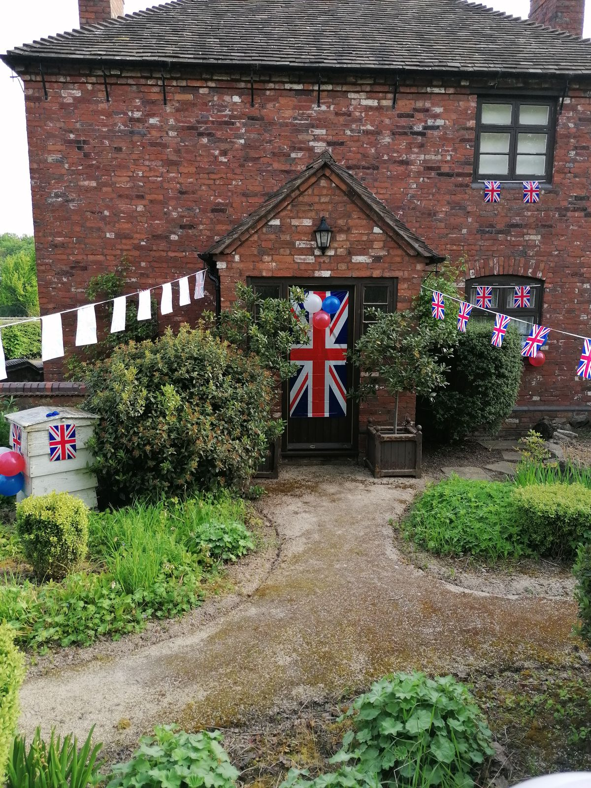 The cottage decorated at Sandwell Valley