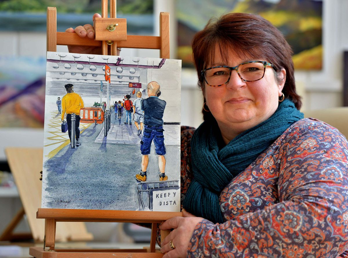 Lindsay Pritchard's 'Two Trolleys Apart' has been selected to be part of a permanent collection in Walsall Art Gallery