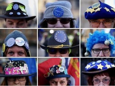 In Pictures: Hats off to these anti-Brexit protesters