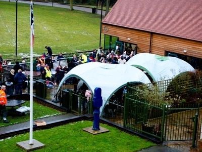 Frosty weather fails to dampen Walsall band's spirits