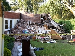 Windmill reduced to rubble after Wolverhampton gas blast