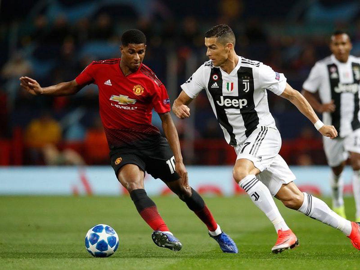 Marcus Rashford (left) and Cristiano Ronaldo