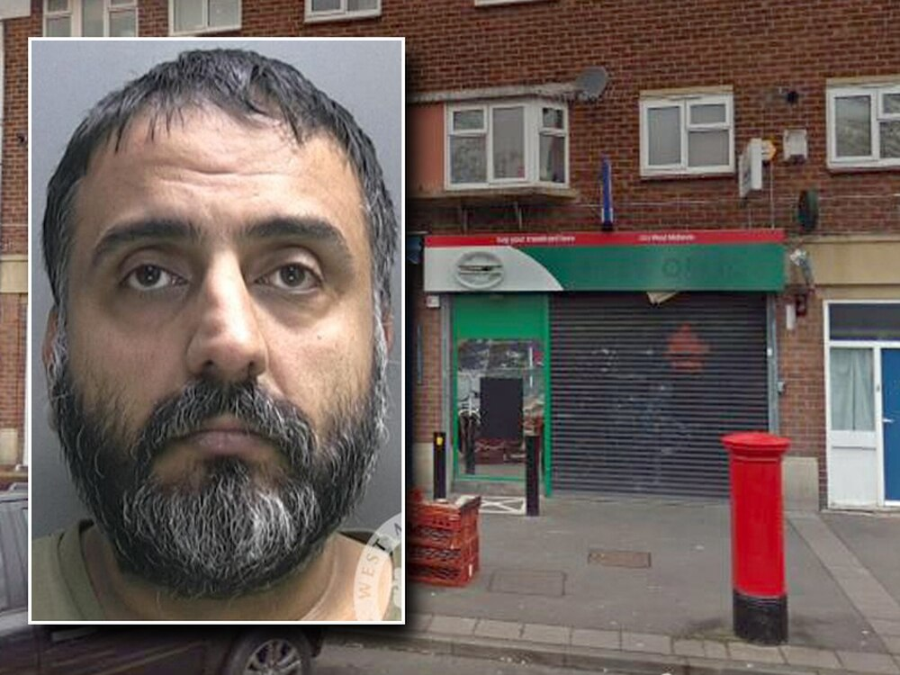 1e24eaa810c Harvinder Shergill, inset, who burgled Yew Tree Post Office in Redwood  Road. Main image: Google
