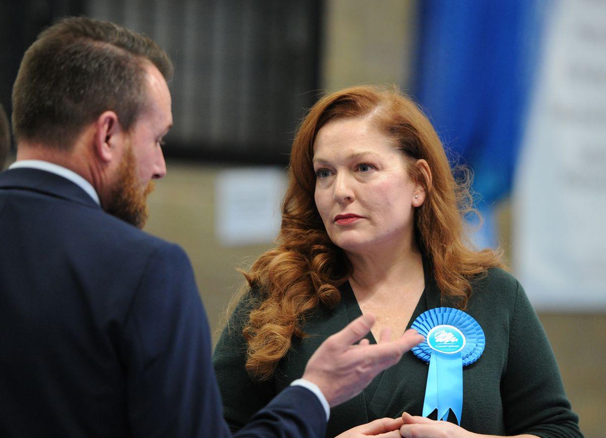 Conservative candidates Stuart Anderson and Jane Stevenson
